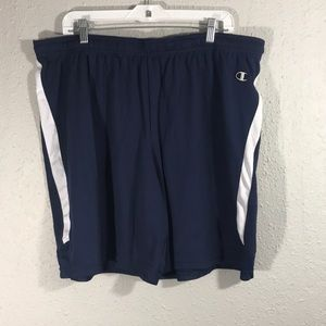 Champion NWOT Navy & White Double Dry Game Shorts